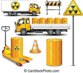 gaspillage, transport, radioactif
