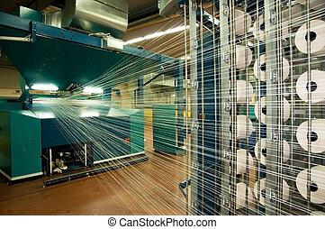 gauchissement, tissage, industrie, (denim), -, textile