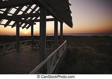 gazebo, coast.