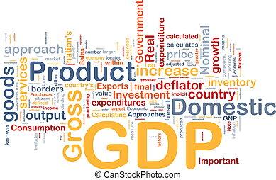 gdp, concept, fond, économie