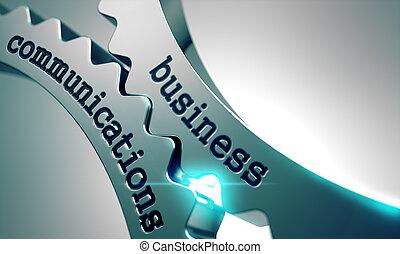 gears., communications, métal, business