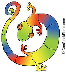 gecko, coloré