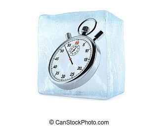 gel, temps, concept