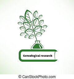 genealogical, recherche, logo
