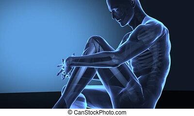 genou, douleur, humain
