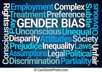 genre, bias, mot, nuage