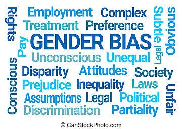 genre, bias, nuage, mot