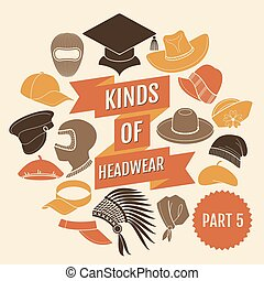 genres, 5., partie, headwear.