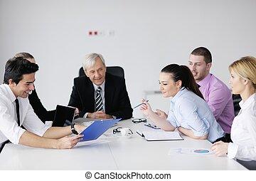 gens, équipe, business