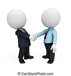 gens, 3d, homme, blanc, business
