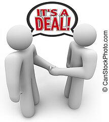 gens, acheteur, affaire protocole, c'est, vendeur