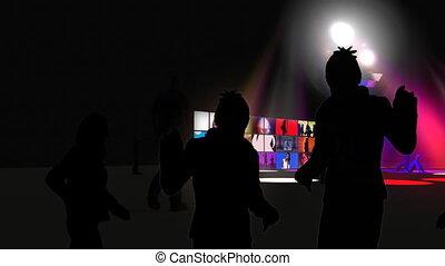 gens, animation, présentation, jeune