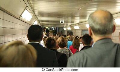 gens, beaucoup, très, chaque, ou, aller, métro, passé