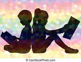 gens, book., silhouettes