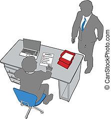 gens bureau, évaluation, ressources, humain, business