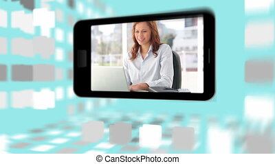 gens, com, vidéos, business, utilisation