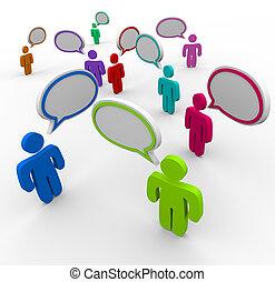 gens, communication, -, désorganisé, parler, autrefois
