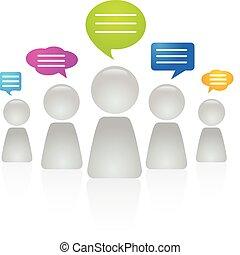 gens, communiquer