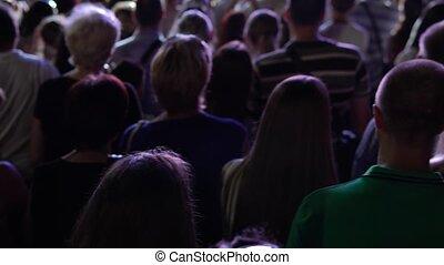 gens, concert, foule, fête, danse, musique