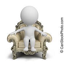 gens, fauteuil, -, luxueux, petit, 3d