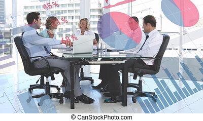 gens, groupe, données, business