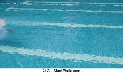 gens, homme, sport, piscine