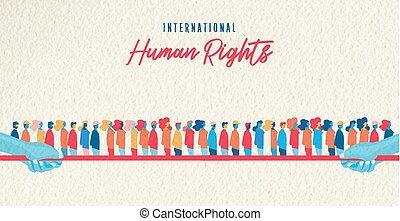 gens, humain, conscience, uni, mois, droits