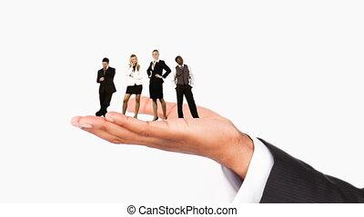 gens humains, main, business, tenue