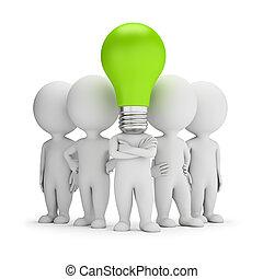 gens, -, idées, petit, éditorial, 3d