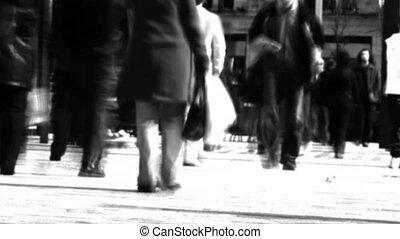 gens marcher, foule