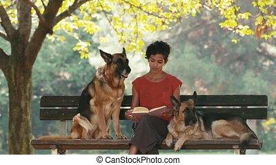 gens, modèle, chien, 12of15, animaux familiers