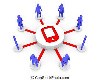 gens., nouvelle technologie, relier