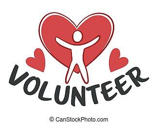 gens, organisation, charité, volontaire, portion