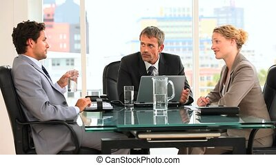 gens, pendant, trio, business