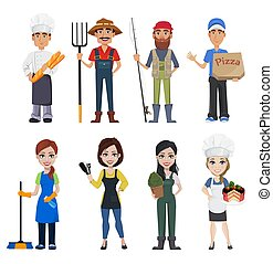 gens, professions, différent