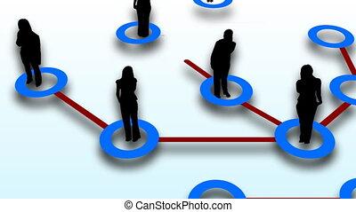 gens, réseau, connexion