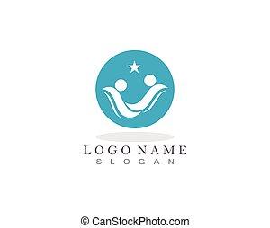 gens, soin, logo
