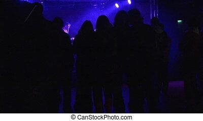 gens, stockage, danse, métrage, disco, -