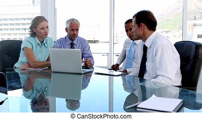 gens, tabl, business, utilisation, groupe