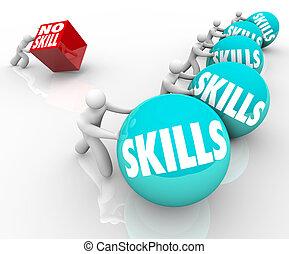 gens, techniques, habile, concurrence, unskilled, vs, non, compétence