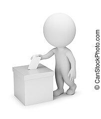 gens, vote, -, 3d, petit