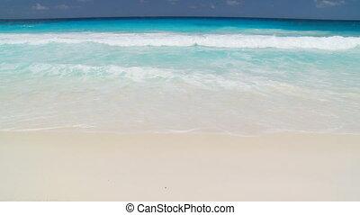 gentil, plage, sablonneux, vagues