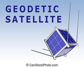 geodetic, concept, satellite