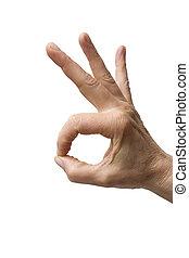 """geste, """"hand"""