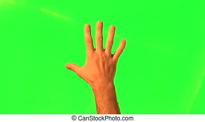 gestes, mâle, main