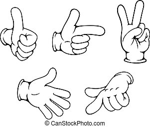 gestes, positif, ensemble, mains