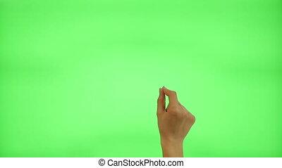 gestes, touchscreen, femme