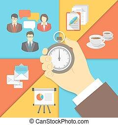 gestion, concept, business, temps