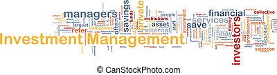 gestion, concept, investissement, fond