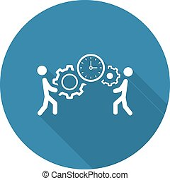 gestion, design., icon., projet, plat